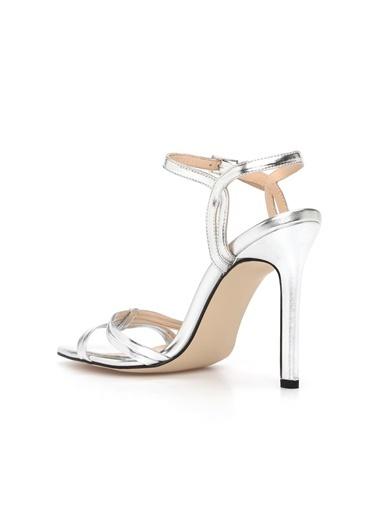 Divarese Divarese 5024685 Dcey X Divarese Rita Topuklu Kadın Sandalet Gümüş
